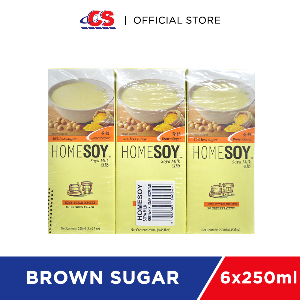 HOMESOY Brown Sugar 6x250ml
