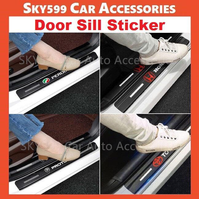 Perodua Proton Toyota Honda Nissan Door sill Sticker Styling car door 1set 4pcs