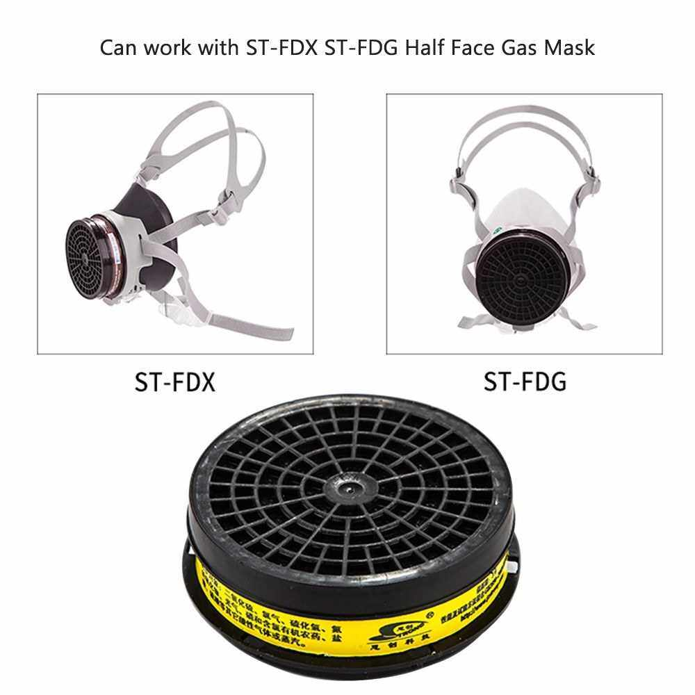 STRONG ST-LDH7 Filter Cartridge Acid Vapor Gas Protection for ST-FDX ST-FDG Half Face Gas Mask Accessories Personal Protective Equipment (Standard)
