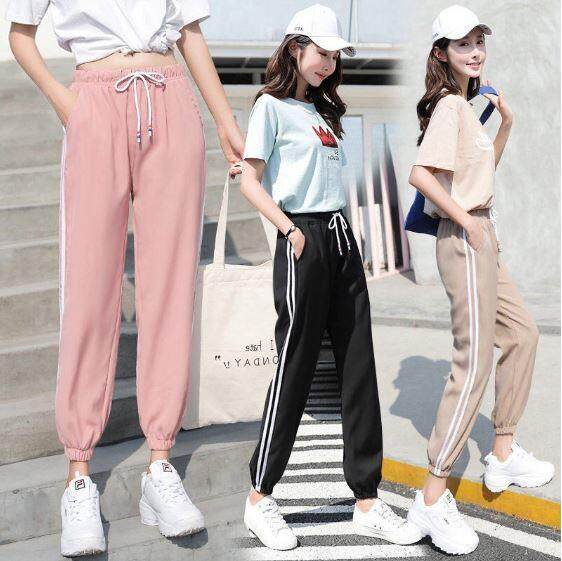 ReadyStockInMalayKorean Women Pants Plus Size Sports Jogger Harem Long Trousers Long Pants Sport Pants Fashion