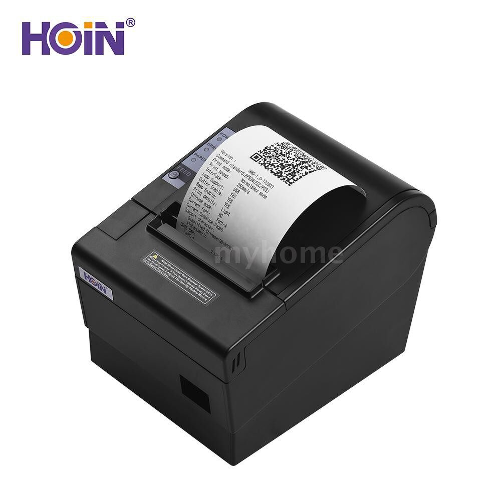 Printers & Projectors - HOIN 80mm USB Thermal Receipt POS Printer Auto Cutter High Speed Printer Clear Printing Compatible - Computer & Accessories