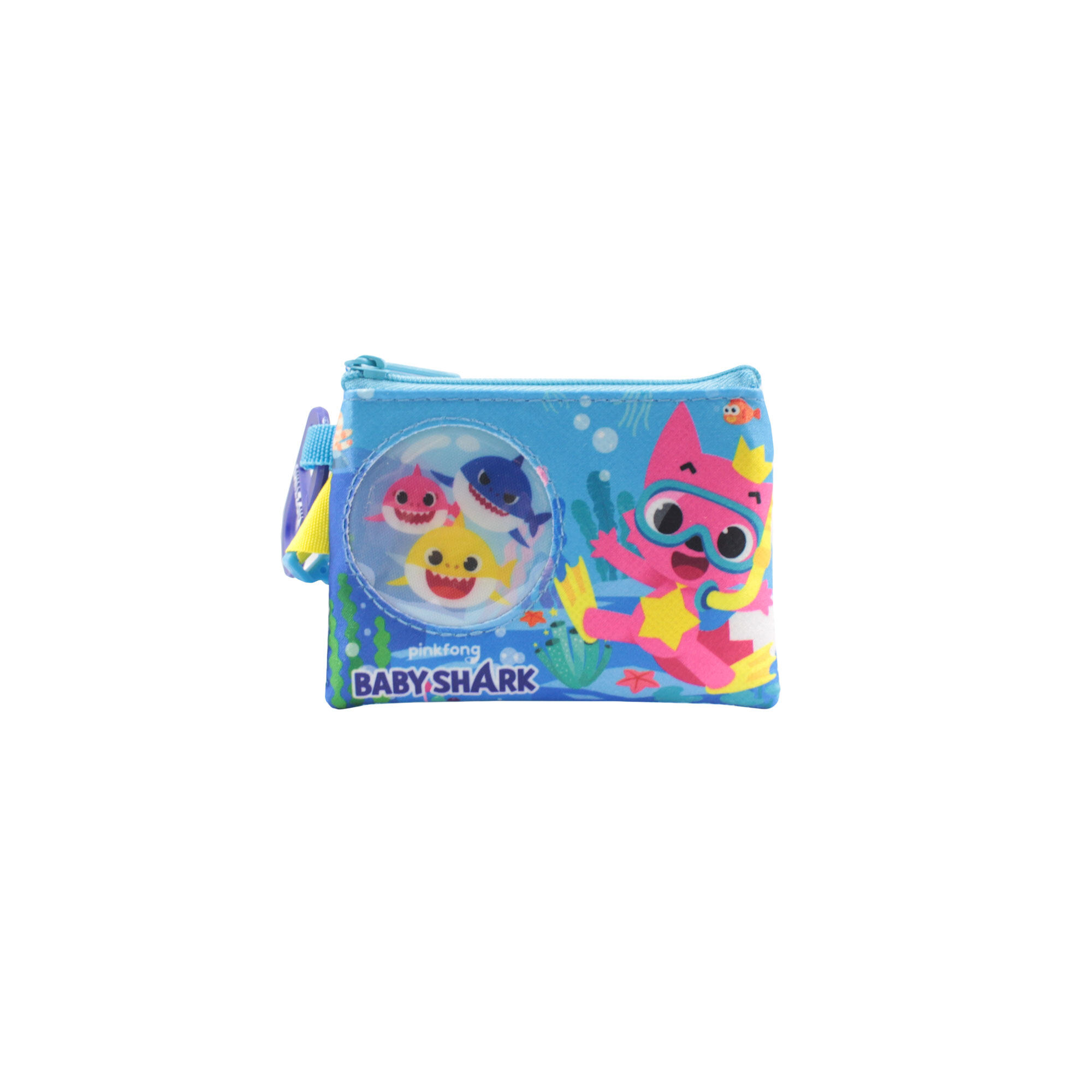 Pinkfong Baby Shark  Children Coin Pouch With Hook -  Blue Colour