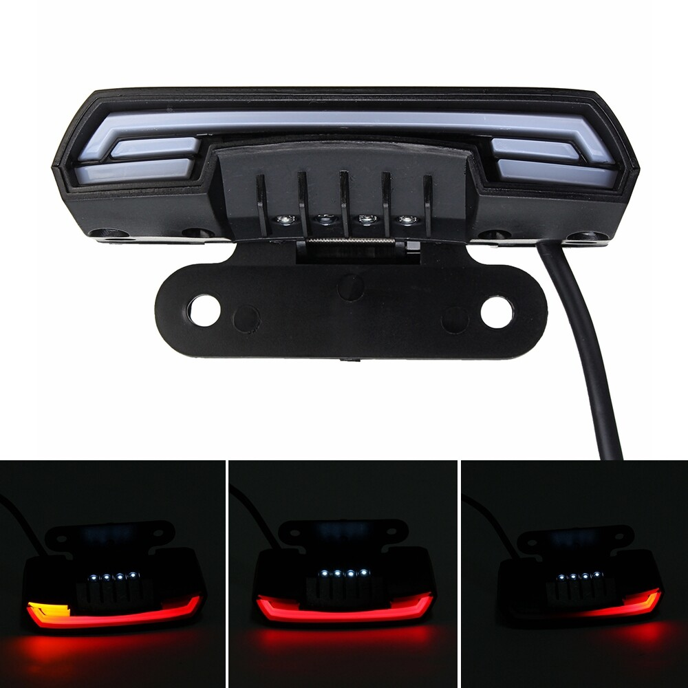 Car Lights - 12-80V Waterproof Double Flash T6 Dynamic Turn Signal Brake Light For Motorcycle - Replacement Parts