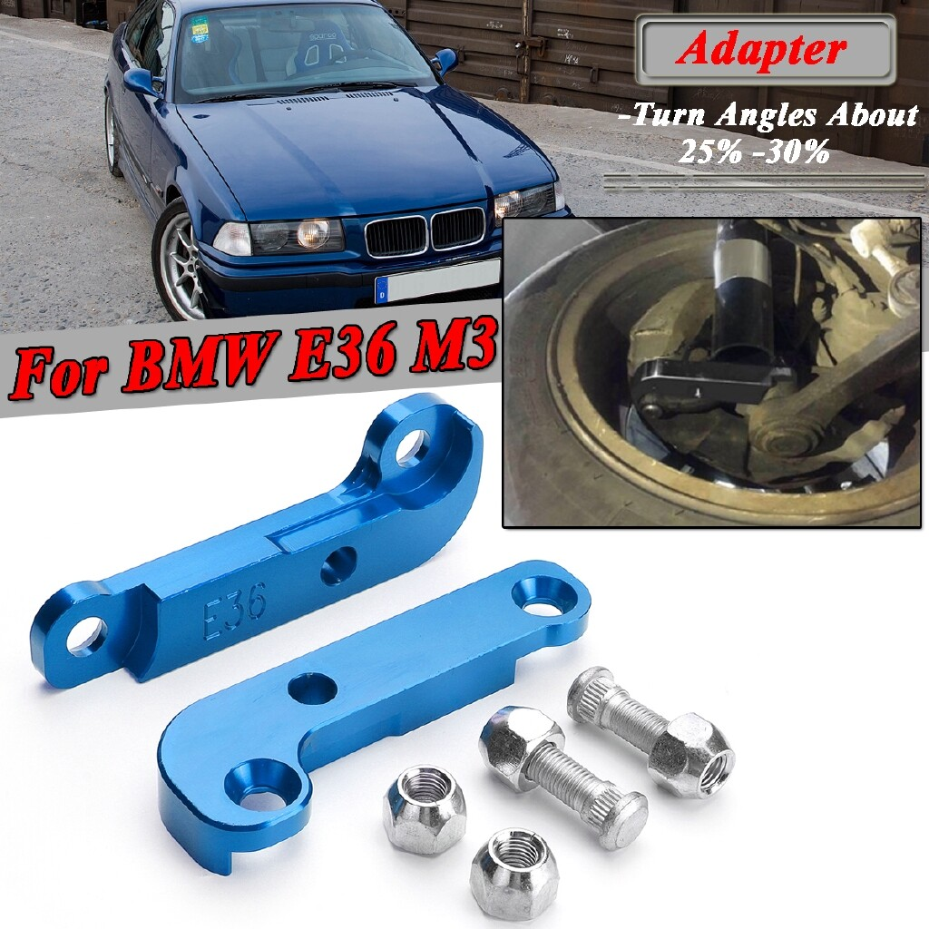Automotive Tools & Equipment - CNC Adapter Increasing Turn Angle 25% -30% Drift Lock Kit For BMW E36 M3 Blue - Car Replacement Parts