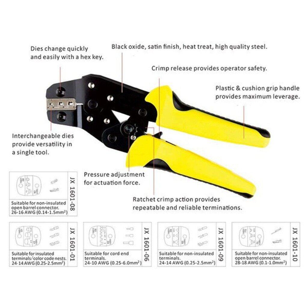 DIY Tools - Wire Ratchet Crimping Pliers Terminal Crimper Clamp Tool - Home Improvement