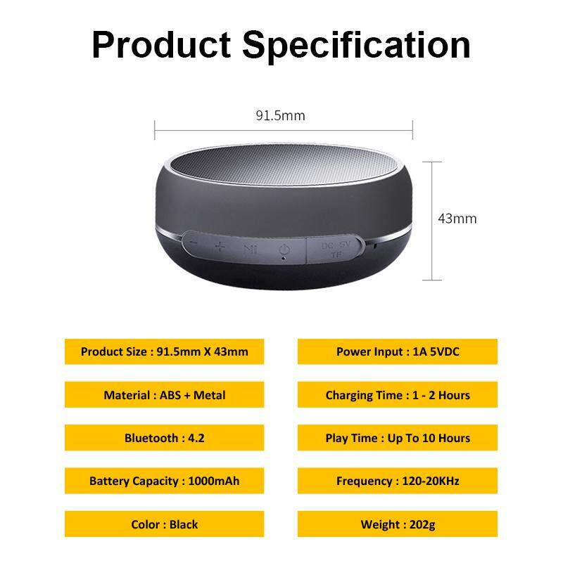 Wireless Bluetooth Stereo Portable Speaker With TF Cad Slot