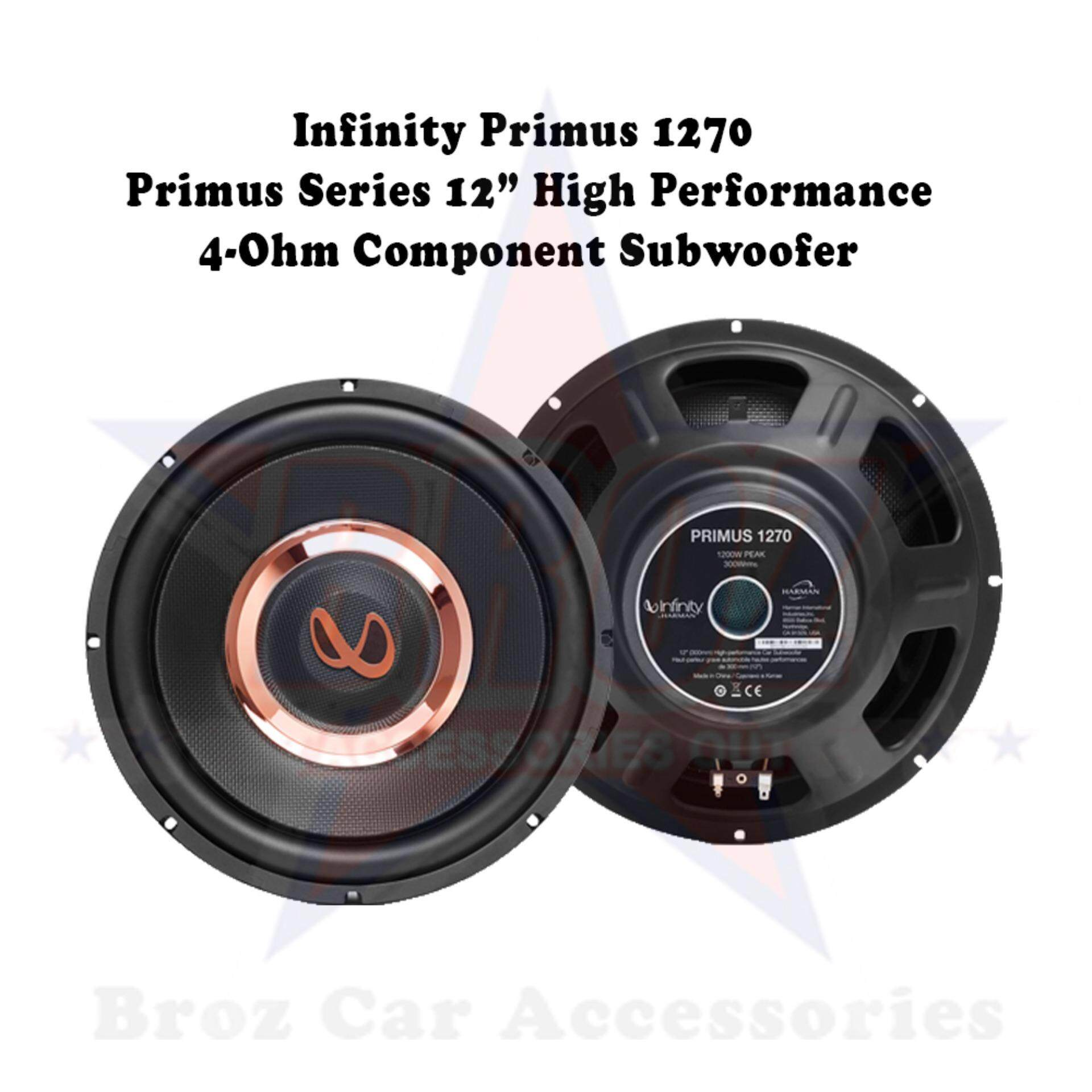 Infinity Primus 1270 Primus Series 12 High Performance 4-Ohm Component Subwoofer