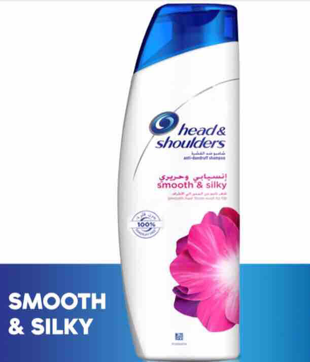 Head & Shoulders Smooth and Silky Anti-Dandruff Shampoo, 340ml