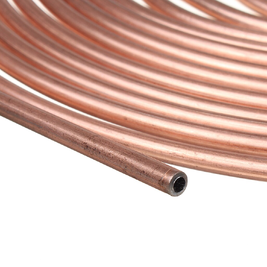 Automotive Tools & Equipment - Roll Copper Steel 25 ft. 3/16'' Brake Line Pipe Tubing + 20 PIECE(s) Kit Fittings - Car Replacement Parts