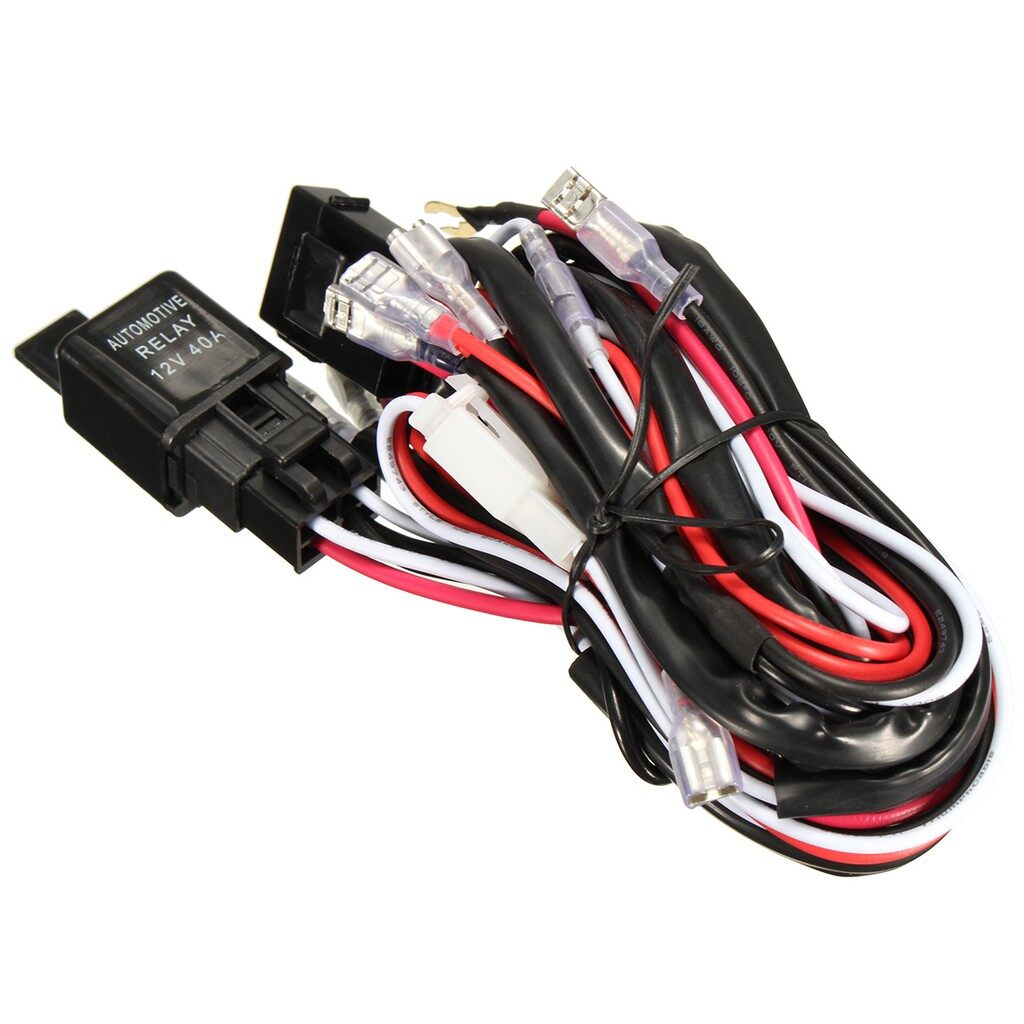 Car Lights - LED Light Bar Laser Rocker Switch Wiring Harness Kit Loom with 40A Relay Fuse - Replacement Parts