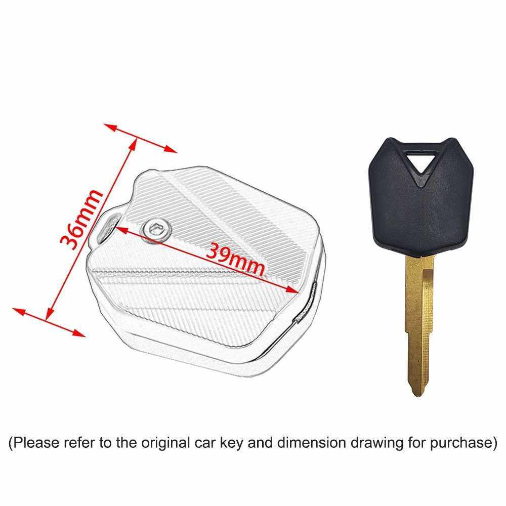 Aluminum Key Case Cover Shell Key Blade Motorcycle Key Case Decorative Protector Cover Replacement for KAWASAKI (Silver)