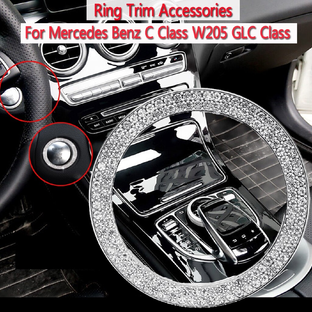 Automotive Tools & Equipment - Car styling Car engine start stop knob cover trim sticker For Mercedes - Car Replacement Parts