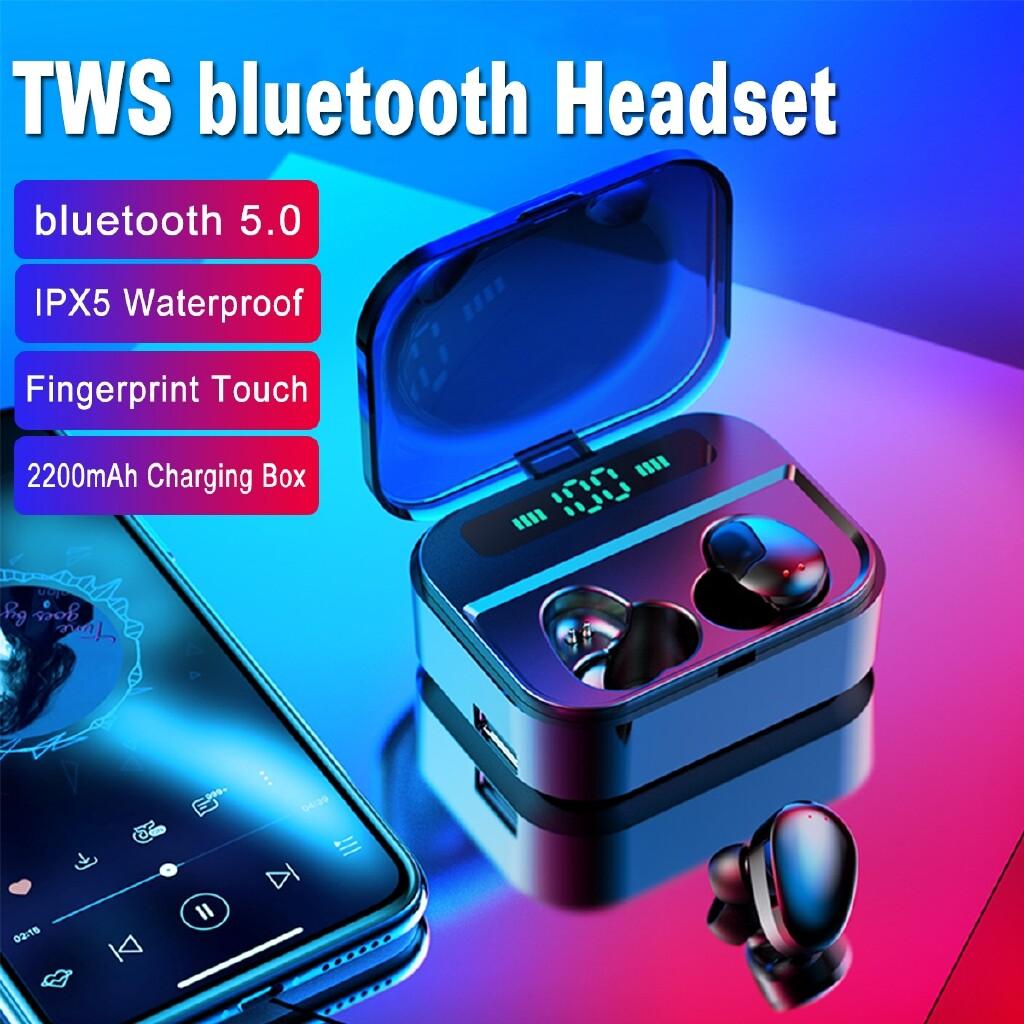 Over-Ear Headphones - PORTABLE PX7 2200mAh Earphones MINI Earbuds Stereo BLUETOOTH 5.0 Head SET - BLACK / WHITE