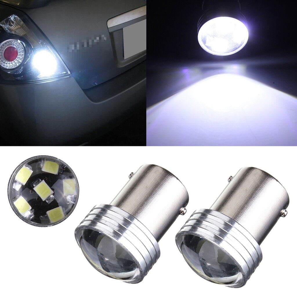 Car Lights - White 1156 6-2835-SMD Car LED Projector Bulbs Backup Reverse Light - Replacement Parts