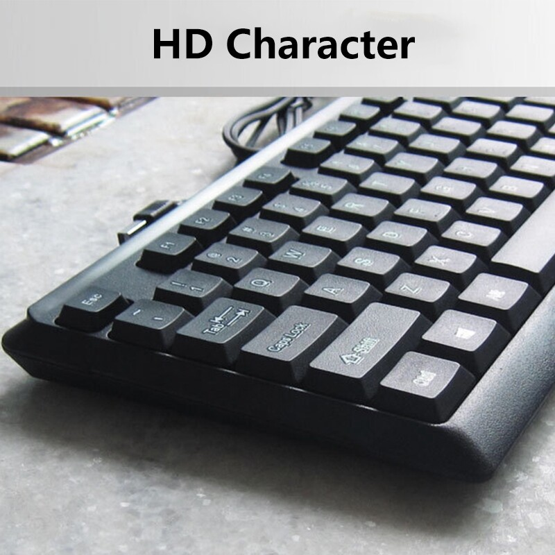 Laptops - 2.4GHz for Desktop PC Black 1.5M Wired Gaming Keyboard and Mouse SET - Computer & Accessories
