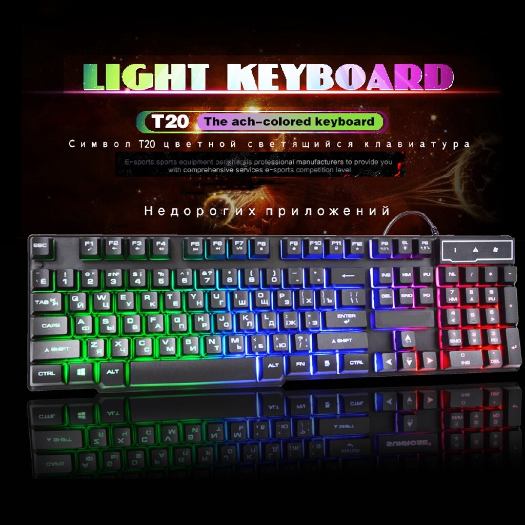 Keyboards - LEROY 104 Keycaps Russian Keyboards Mechanical Gaming Wired Computer keyboard-3c - Computer Accessories