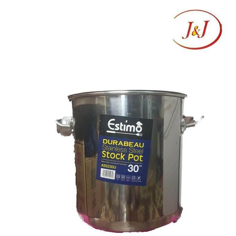 ESTIMO Durabeau Stainless Steel Stock Pot, 30cm
