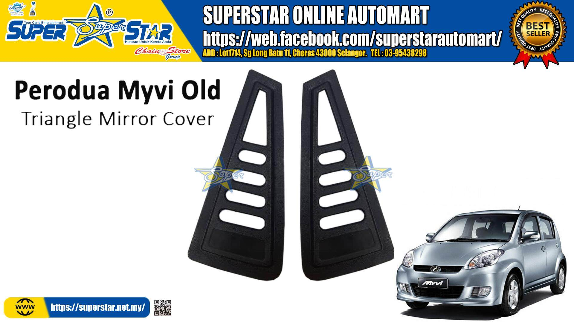 myvi old rear side triangle window cover