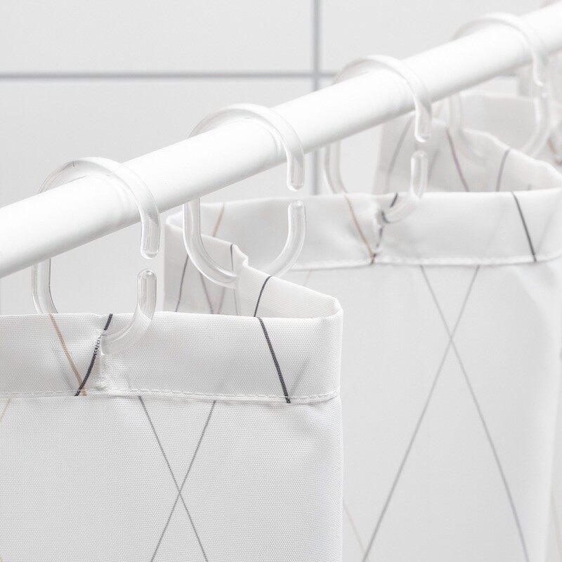 BASTSJON IKEA Shower curtain, white/grey/beige(180x200cm)