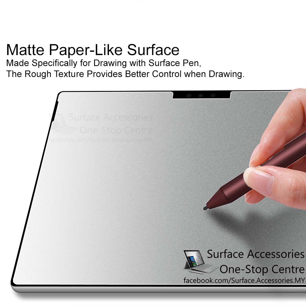 "[MALAYSIA]Surface Laptop 3 15"" Matte Tempered Glass Hardness 9H Hardness Nano Coating Anti Shatter Film Microsoft Surface Laptop 3 2020 Surface Laptop 3 2020 Matte Texture Paper-Like Tempered Glass"
