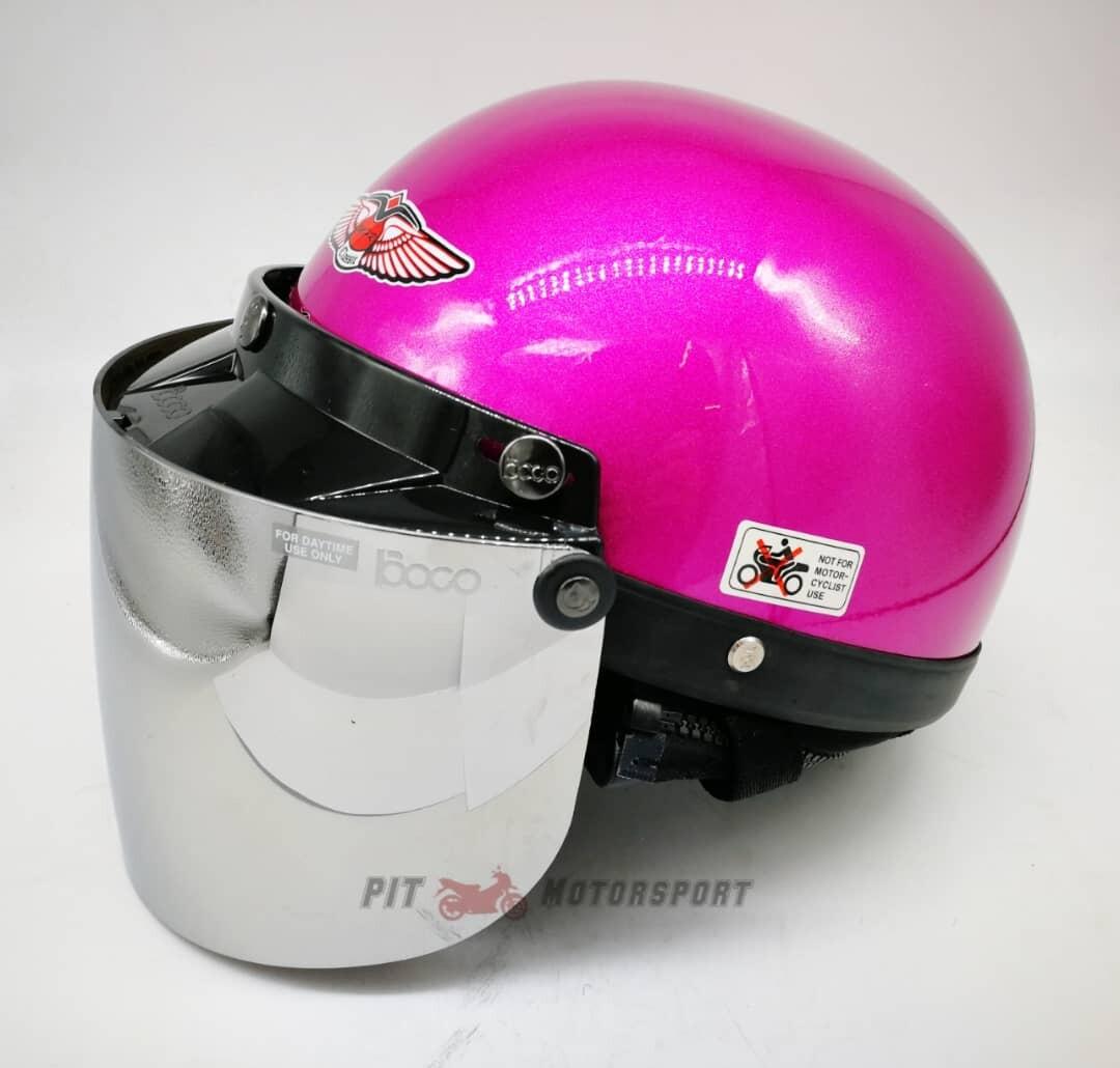 Pink MHR III Half Cut Helmet / MHR 3 100% Original Size L Add On Visor Kura EX5 Y110 Y80 Wave 125Z Ysuku RFS150 VF3i C70 RS150 LC135 Y15
