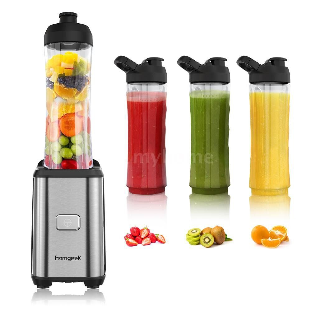 Small Kitchen Appliances - Homgeek MINI 350W Fruit and Vegetable Single Serve Juice Extractor Personal Smoothie Blender - Home