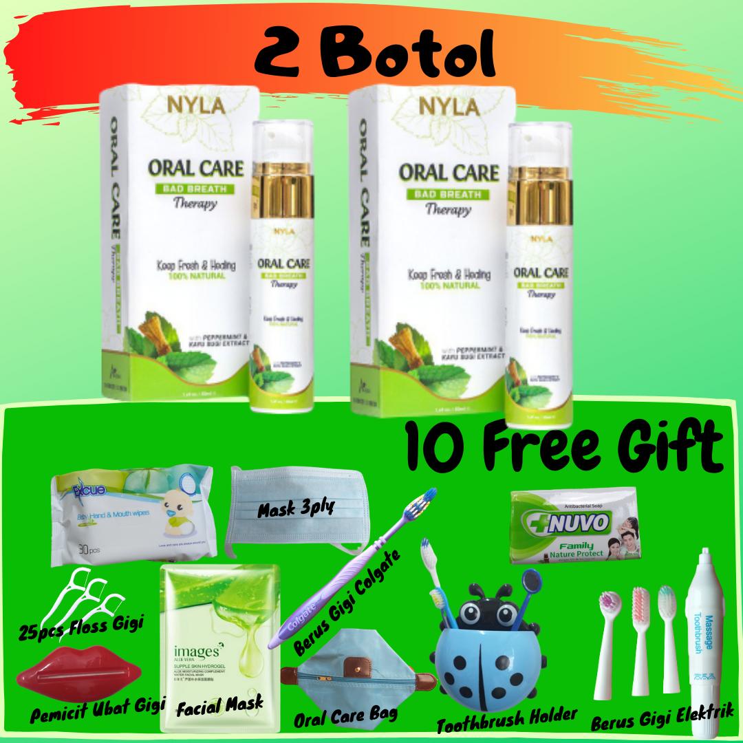 ??[10 Free Gift] 2 Oral Care? Merawat Bau Mulut Bengkak Gusi Berdarah Sakit Gigi Putih Tanpa Bahan Kimia