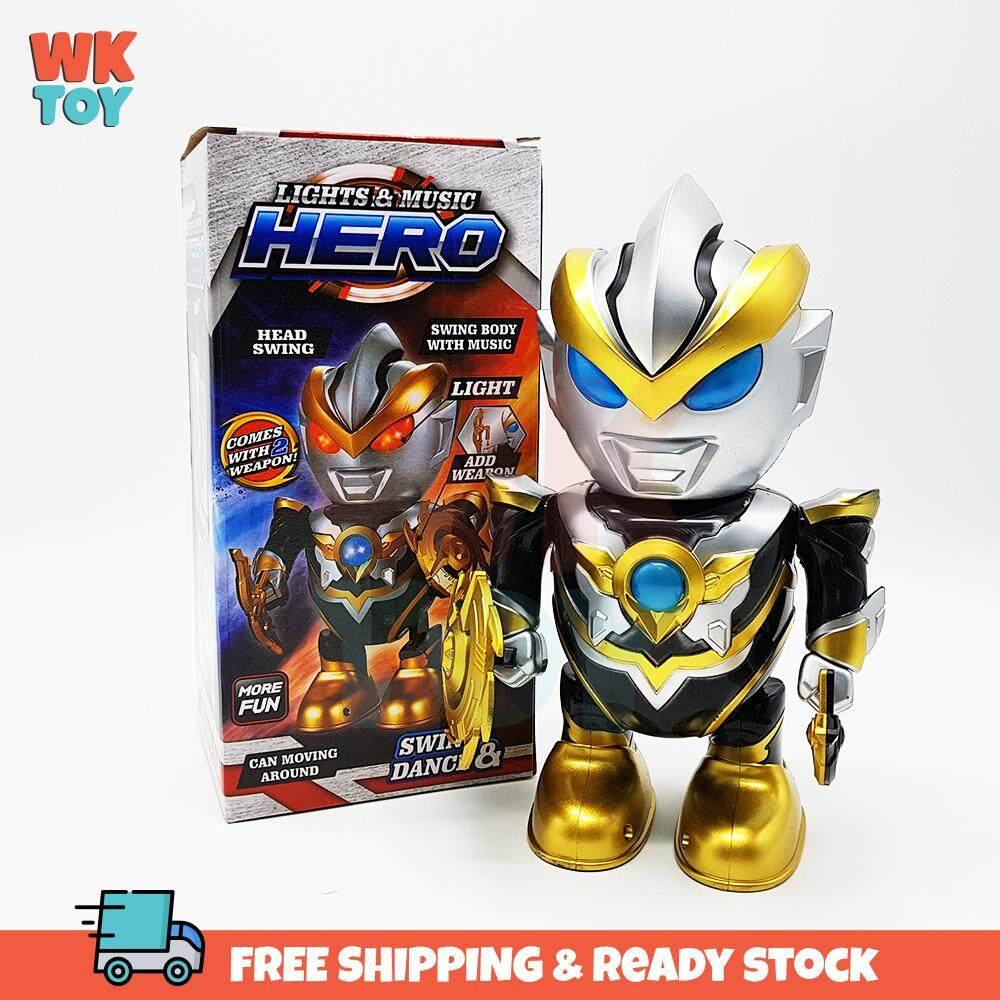 WK Ultraman Ruebe Dance Robot Cool Light Music Toy