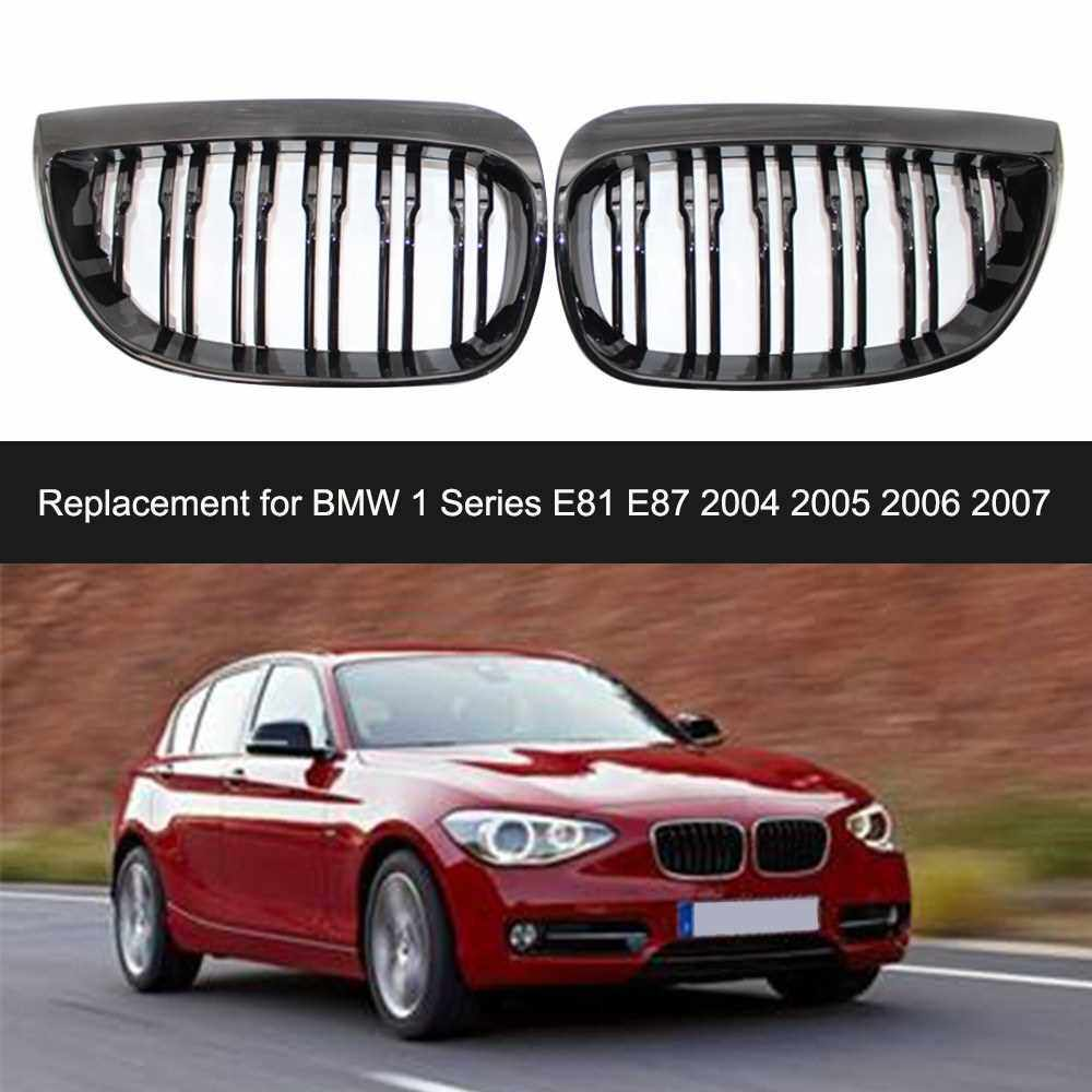 People's Choice Pair Front Grille Grills Replacement for BMW 1 Series E81 E87 2004-2007 Car Styling Racing Grills (Standard)