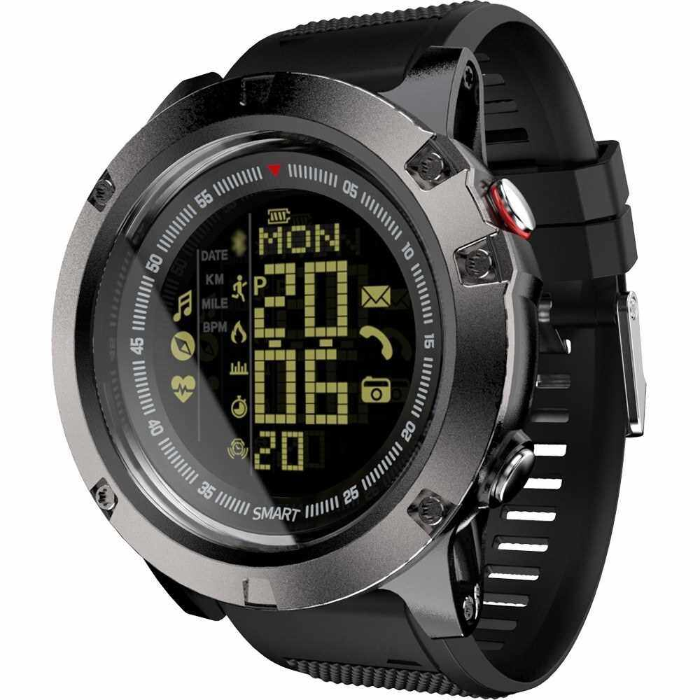 LOKMAT Smart Watch IP68 Waterproof Remote Camera Fitness Tracker with Heart Rate Monitor Sleep Monitor Calorie Counter Call & Message Reminder Luminous Smartwatch FSTN Screen BT 4.0 for Android/ iOS (Black)
