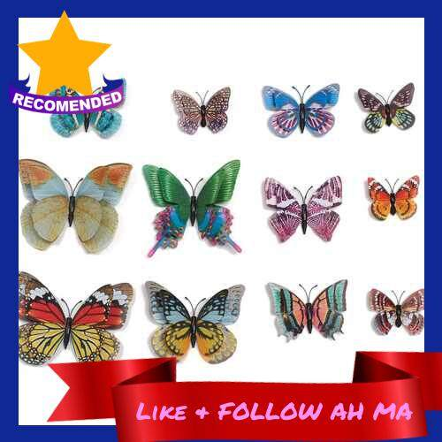 Best Selling 12Pcs Wall Stickers Colorful PVC Butterfly Shape Wall Decal Sticker Home Living Room Nursery Refrigerator Stickers DIY Art Decoration Outdoor Fences Garden Lawn Backyards Decor Removable Colorful Sticker (4)