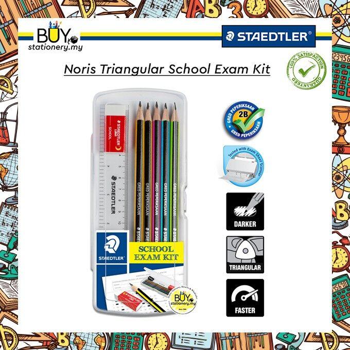 Staedtler Noris 2B Triangular School Exam Kit/ Exam Set - (BOX)