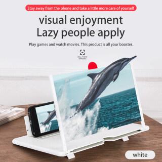 HOCE Kính Lúp Màn Hình Điện Thoại Di Động 3D HD 12 Inch Bộ Khuếch Đại Trò Chơi Điện Ảnh Có Chân Đế Có Thể Gập Lại Điện Thoại Di Động Máy Tính Để Bàn Đứng, Dành Cho Huawei OPPO VIVO Xiaomi Redmi Oneplus Real Me thumbnail