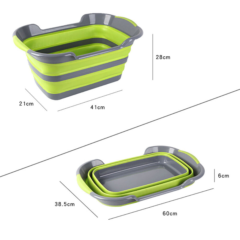 Multifuntional Children Wash Tub Foldable Clothes Basket Sundries Container Pet Bathtub