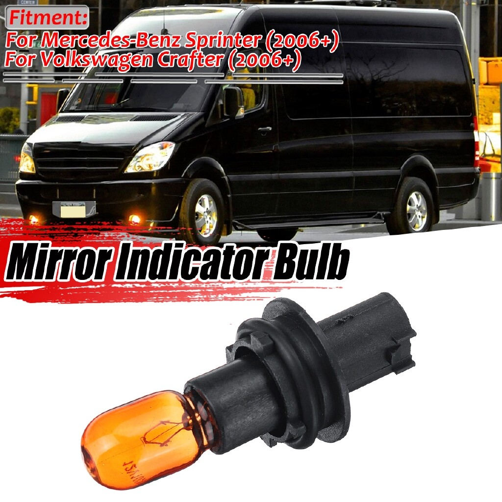 Car Lights - For 2006+ Mercedes Sprinter Dodge Mirror Side Indicator Lens Lamp Bulb + Holder - Replacement Parts