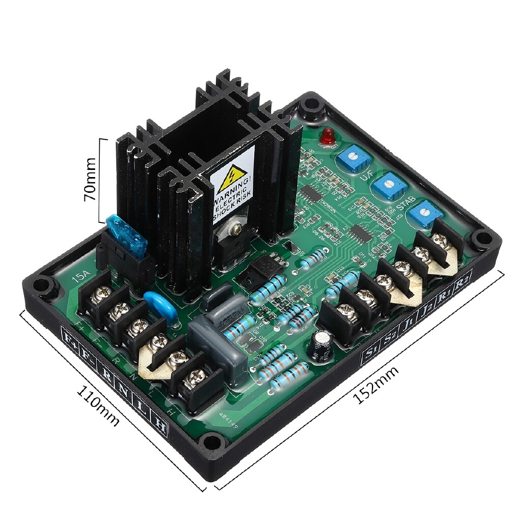 Moto Accessories - Automatic Voltage Regulator Module GAVR-15A Universal Brushless AVR Generator - Motorcycles, Parts