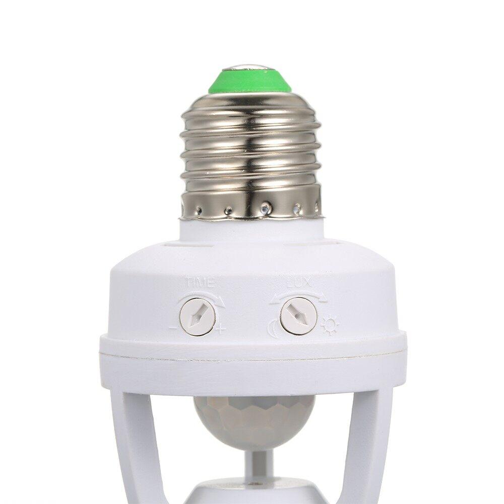 Lighting - Sensitive PIR Motion Sensor E27 LED Bulb Base Socket Infrafed Automatic Li - Home & Living