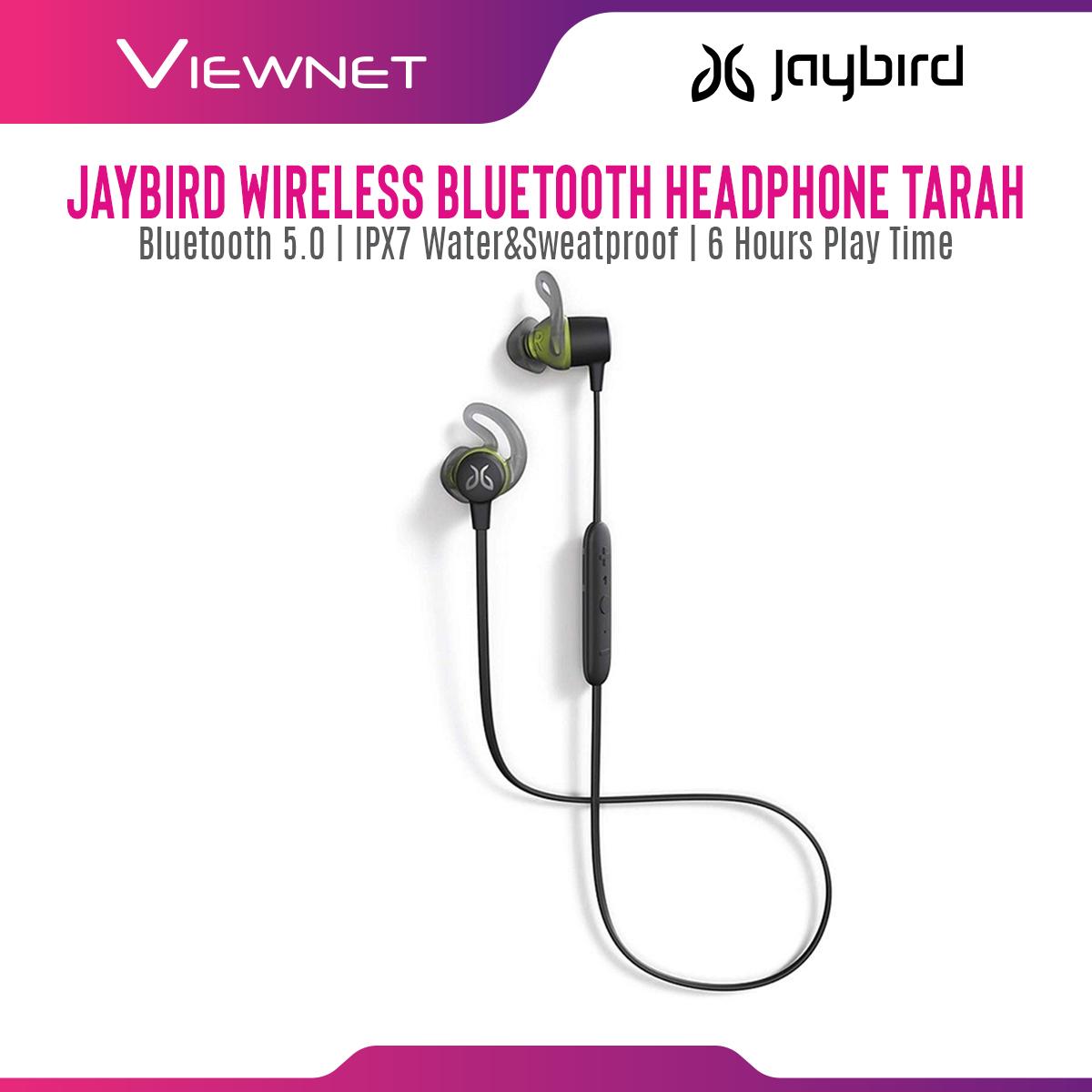 Jaybird Earset Wireless Bluetooth Tarah Sport with IPX7 Waterproof & Sweatproof, Premium Sound with Custom EQ, 6-Hour Battery Life, Music and Calls, Sport Fit