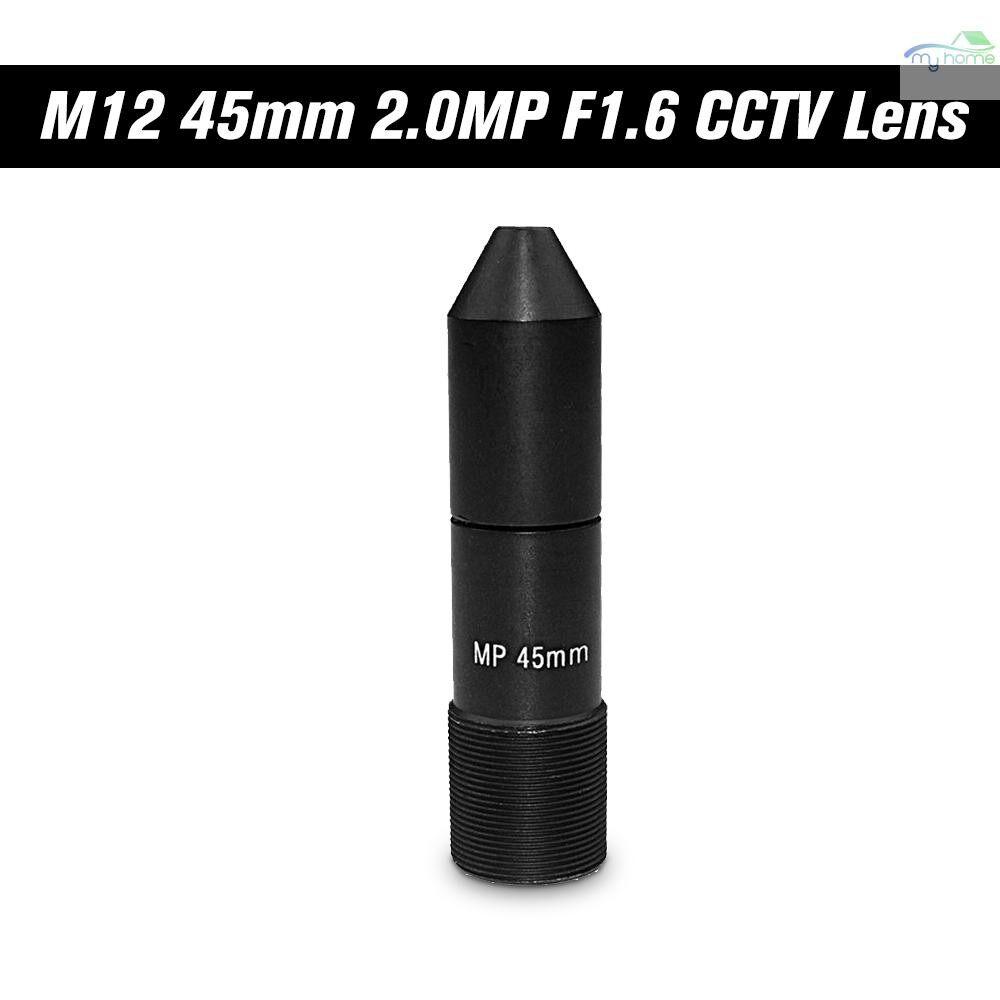 CCTV Security Cameras - HD 2.0 Megapixel 45mm Pinhole CCTV Lens M12 Mount MTV Board Lens Image Format 1 , F1.6, Fixed Iris - BLACK