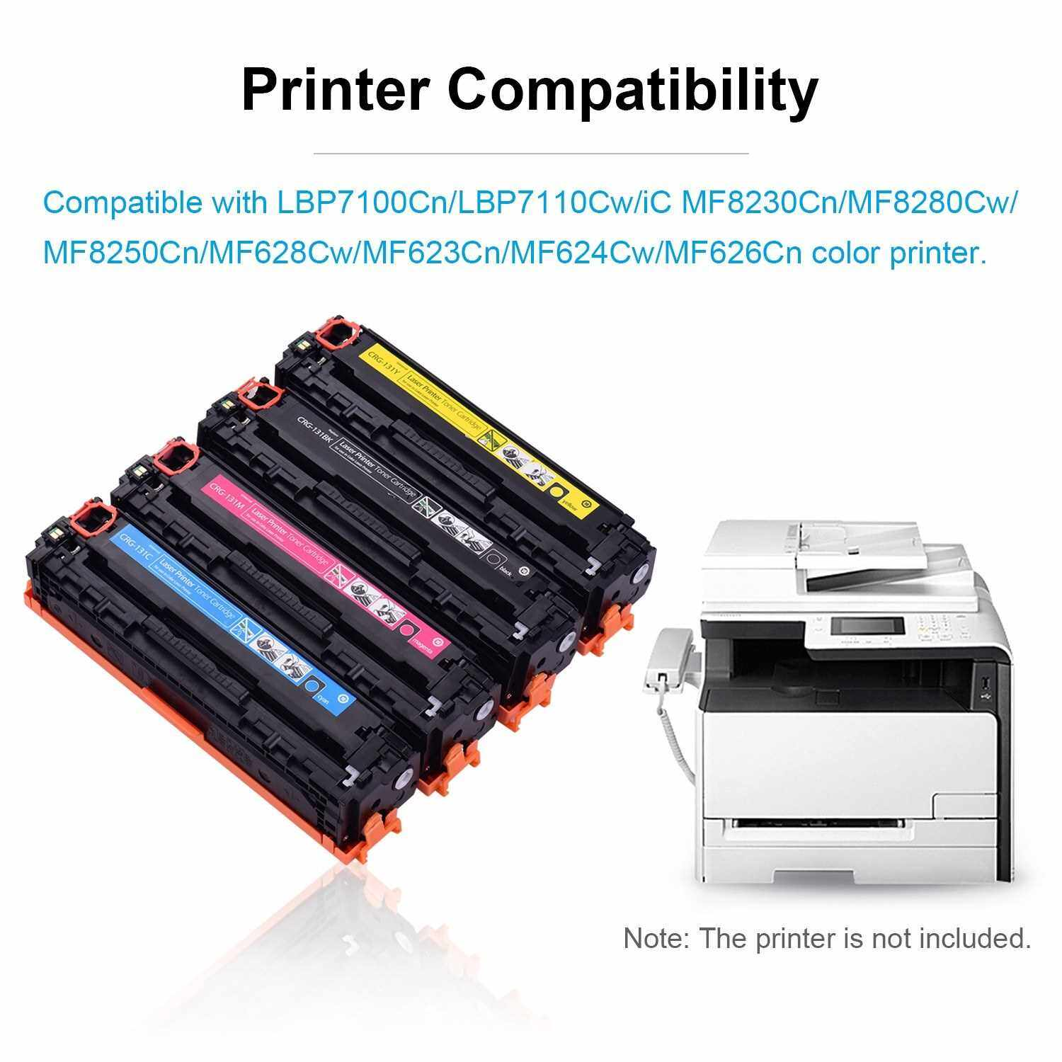 Aibecy Compatible Toner Cartridge Replacement for CRG-131 Toner with Chip Compatible with LBP7100Cn/LBP7110Cw/iC MF8230Cn/MF8280Cw/MF8250Cn/MF628Cw/MF623Cn/MF624Cw/MF626Cn Printer(Cyan,1 Pack) (Blue)