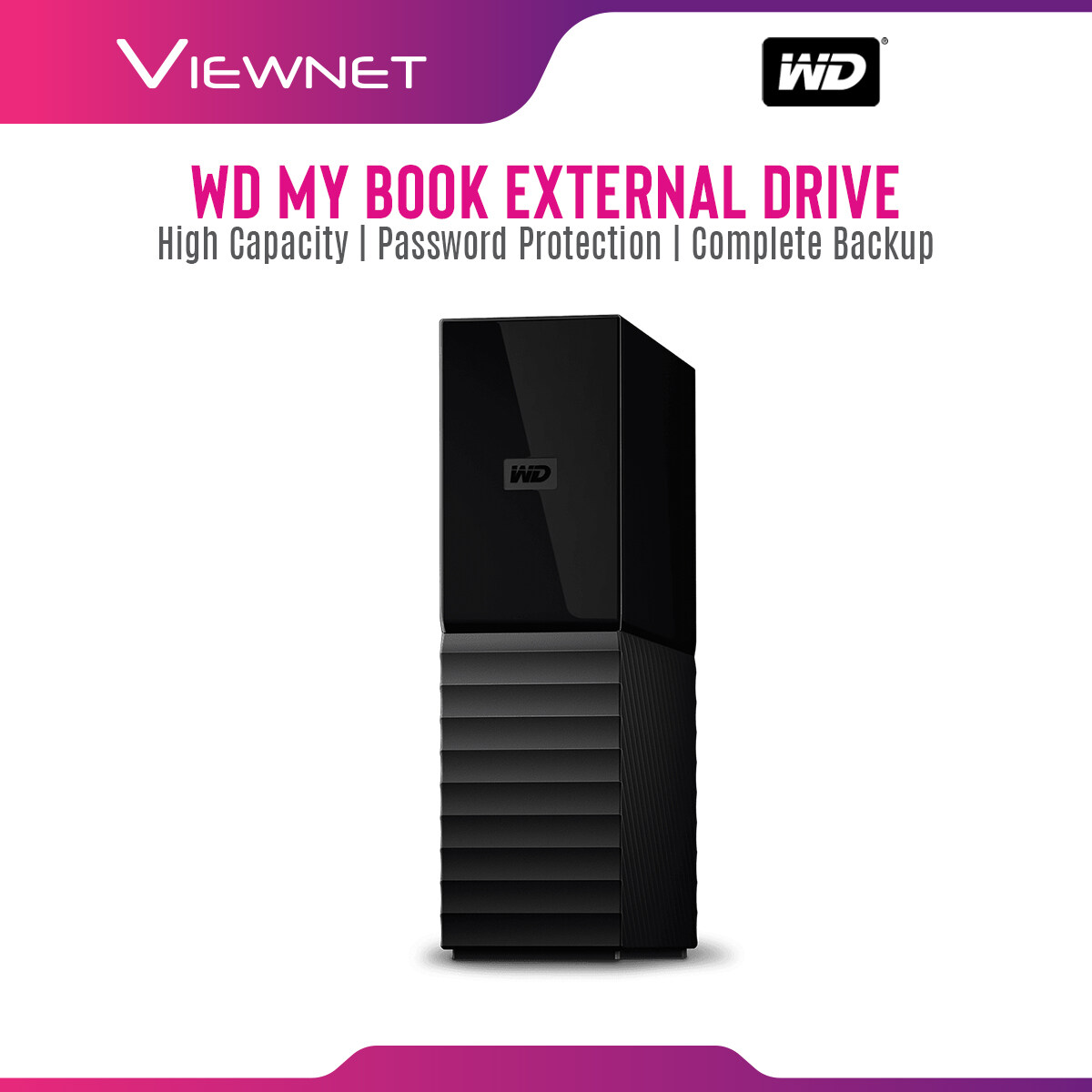 WD Western Digital My Book  3TB / 4TB / 6TB / 8TB / 10TB / 12TB / 14TB with  USB3.0 External Hard Disk Drive