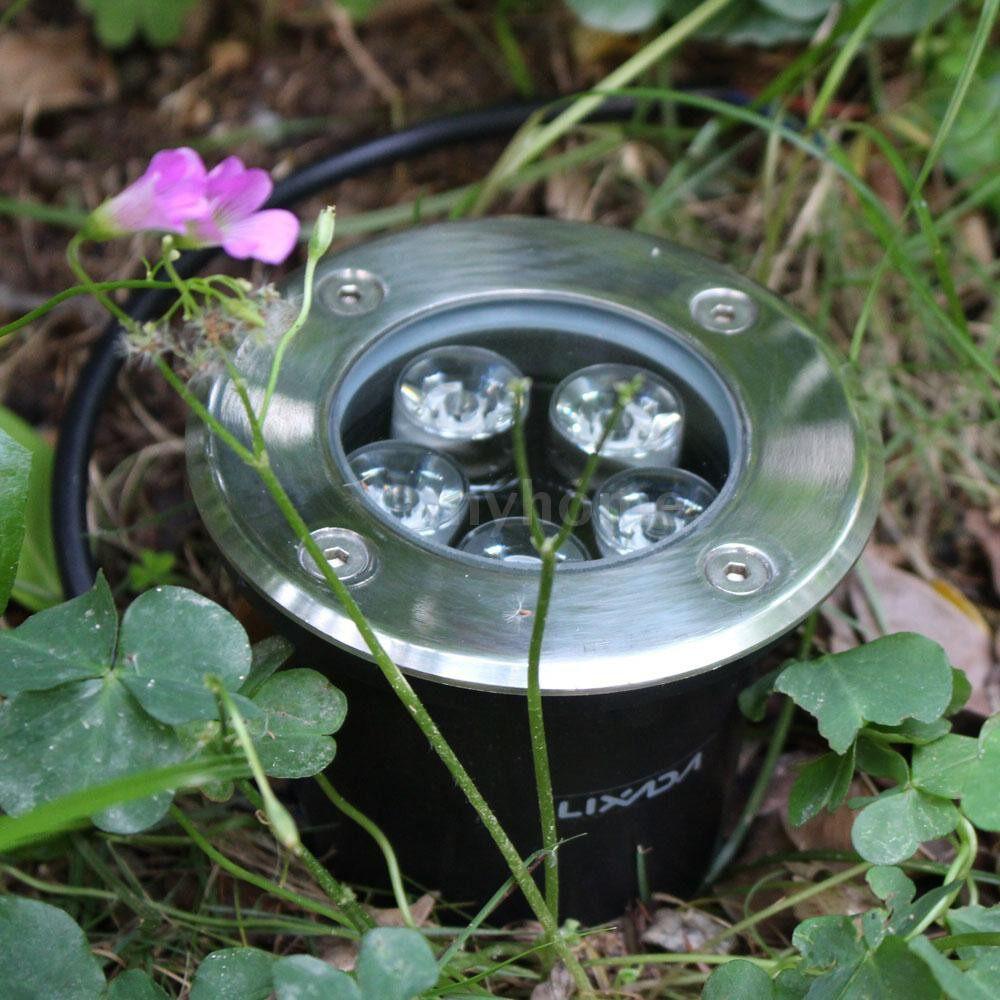Outdoor Lighting - 5W LED Outdoor Ground Garden Path Floor Underground Buried Yard Lamp Spot Landscape Light - WHITE / BLUE / WARM WHITE