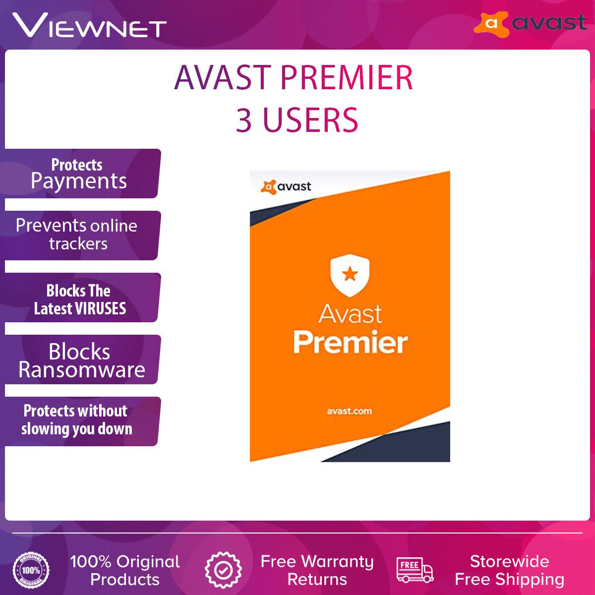 Avast Premium Security 3 USERS