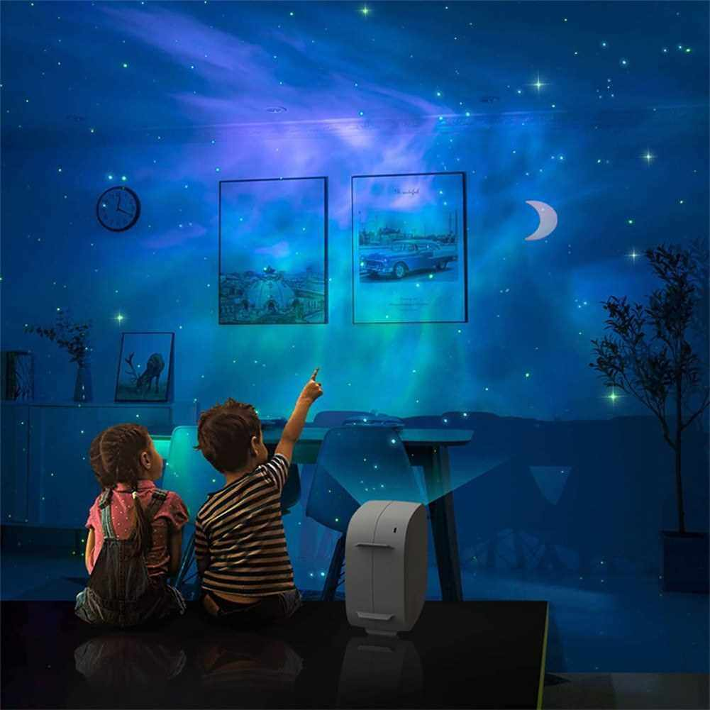 Romantic LED Starry Night Lamp 3D Star Projector Light for Kids Bedroom Projection Home Planetarium (Black)