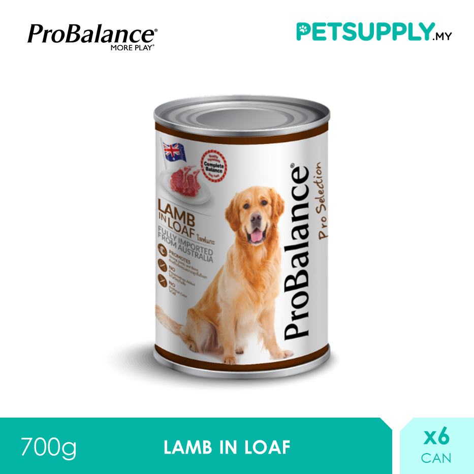 ProBalance 700G Lamb Pro Selection Adult Wet Dog Food X 6 Cans [PETSUPPLY.MY]