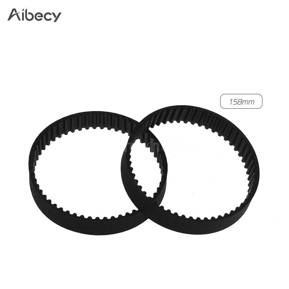 Printers & Projectors - GT2 Closed-Loop Timing Belt Rubber Synchronous Belts W=6mm - BLACK-1220MM / BLACK-852MM / BLACK-610MM / BLACK-400MM / BLACK-280MM / BLACK-200MM / BLACK-160MM / BLACK-158MM / BLACK-112MM / BLACK-110MM