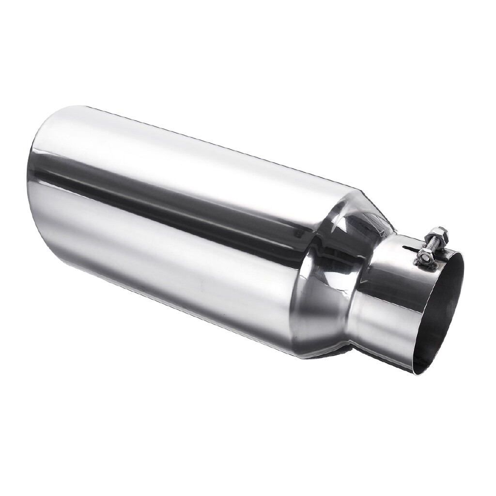 Exhaust - Exhaust Pipe Tip Stainless Steel 4'' Inlet 6'' Outlet 15in Long Diesel Car Truck - Car Replacement Parts