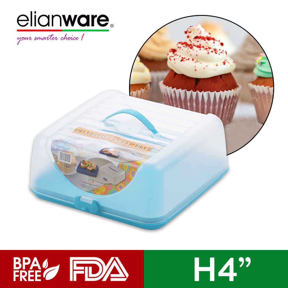 Elianware Multipurpose Cake Bread Storage Case Bakerline Party Tray with Cover