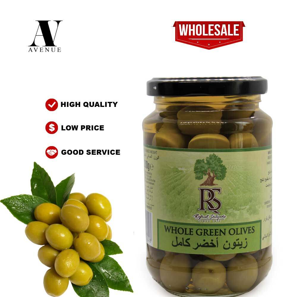 RS Whole Green Olives 200g x 12 Jar
