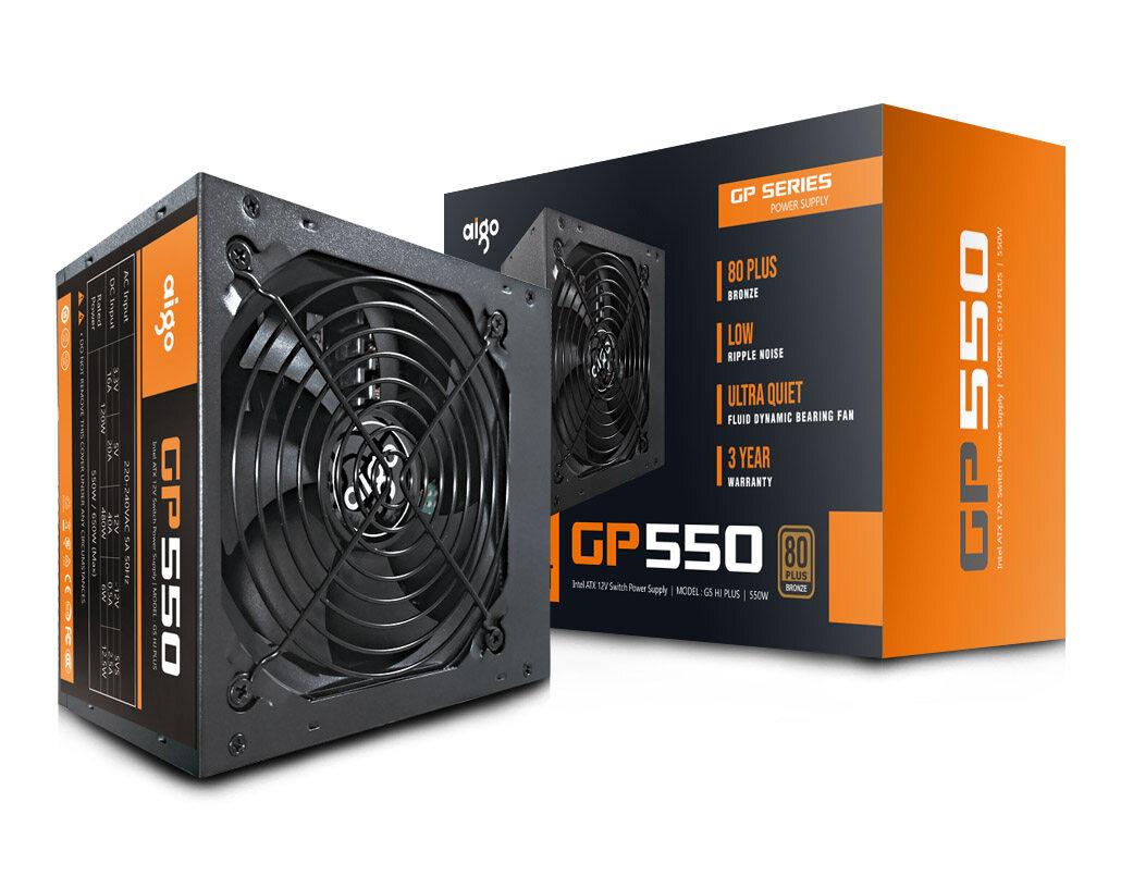 Aigo Power Supply 550W 80Plus Bronze (AIGO-GP550)